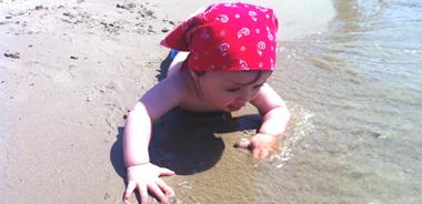 10 cose da fare al mare con il bebè