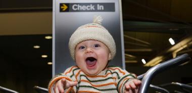 In volo con il neonato